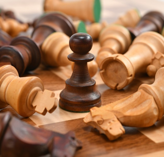 chess pieces standing out from competition